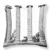 Five Columns Sketchy Throw Pillow by Debbie Portwood