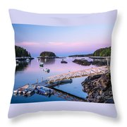 Five Islands Dawn Throw Pillow by Susan Cole Kelly