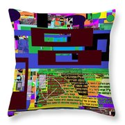 Fixing Space 11 Throw Pillow by David Baruch Wolk