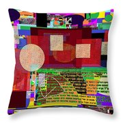 Fixing Space 12 Throw Pillow by David Baruch Wolk