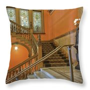 Flagler College Entryway Throw Pillow by Rich Franco