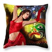 Flamenco Dancer 010 Throw Pillow by Catf