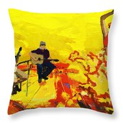 Flamenco Dancer 018 Throw Pillow by Catf