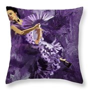 Flamenco Dancer 023 Throw Pillow by Catf