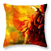 Flamenco Dancer 026 Throw Pillow by Catf