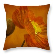 Flaming Beauty Throw Pillow by Heiko Koehrer-Wagner