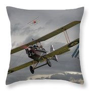 Flander's Skies Throw Pillow by Pat Speirs