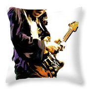 Flash Point     Stevie Ray Vaughan Throw Pillow by Iconic Images Art Gallery David Pucciarelli
