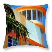 Flavour Of Miami Throw Pillow by Karen Wiles