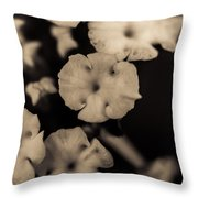 Floating Into The Dark Throw Pillow by Marco Oliveira