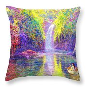 Floating Throw Pillow by Jane Small