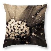 Floral Close-up V Throw Pillow by Marco Oliveira