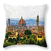 Florence impasto Throw Pillow by Steve Harrington