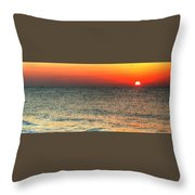 Florida Point Sunrise Throw Pillow by Michael Thomas