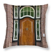 Florishaven Doorway Throw Pillow by Phyllis Taylor