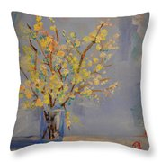Flower Arrangement Exotic  Throw Pillow by Patricia Awapara
