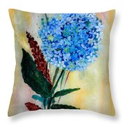 Flower Decor Throw Pillow by Nirdesha Munasinghe