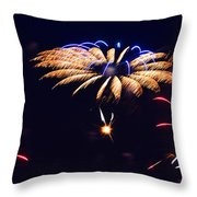 Flower Fireworks Throw Pillow by Sandi OReilly