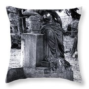 Flower For The Dead Throw Pillow by John Rizzuto