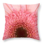 Flower - I Love Pink Throw Pillow by Mike Savad