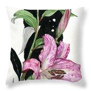 Flower Lily 02 Elena Yakubovich Throw Pillow by Elena Yakubovich