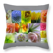 Flower Macro Photography Throw Pillow by Juergen Roth