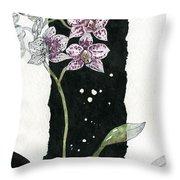 Flower Orchid 04 Elena Yakubovich Throw Pillow by Elena Yakubovich