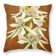 Flower - Orchid - A Gift For You  Throw Pillow by Mike Savad
