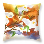 Flowering Dogwood IIi Throw Pillow by Kip DeVore