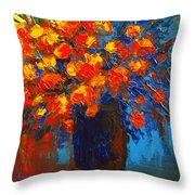Flowers Are Always Welcome IIi Throw Pillow by Patricia Awapara