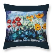 Flowers Through The Storm Throw Pillow by Michael Kulick