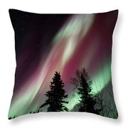 Flowing Colours Throw Pillow by Priska Wettstein