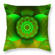 Flowing Green Throw Pillow by Hanza Turgul