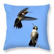 Fluttering Throw Pillow by Shane Bechler