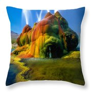 Fly Geyser Travertine Throw Pillow by Inge Johnsson