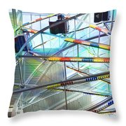Flying Inside Ferris Wheel Throw Pillow by Luther   Fine Art