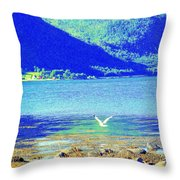 flying low Throw Pillow by Hilde Widerberg