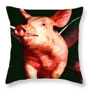 Flying Pigs v1 Throw Pillow by Wingsdomain Art and Photography