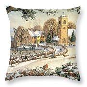 Focus On Christmas Time Throw Pillow by Ronald Lampitt