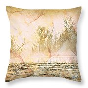Fog Abstract 4 Throw Pillow by Marty Koch