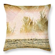 Fog Abstract 5 Throw Pillow by Marty Koch