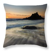 Fogarty Tides Throw Pillow by Mike  Dawson