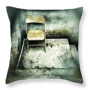 Folding Chair On Stoop Throw Pillow by Amy Cicconi