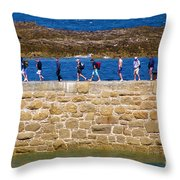 Follow The Yellow Brick Road Throw Pillow by Terri Waters