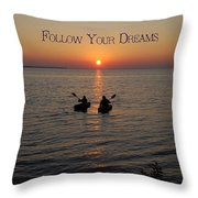 Follow Your Dreams Throw Pillow by Aimee L Maher Photography and Art