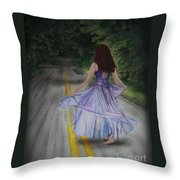 Follow Your Path Throw Pillow by Jackie Mestrom