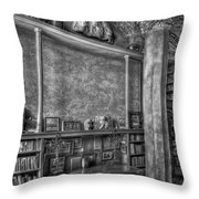 Fonthill Castle Library Throw Pillow by Susan Candelario