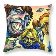 Foo Fighters Throw Pillow by John Ashton Golden