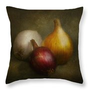 Food - Onions - Onions  Throw Pillow by Mike Savad