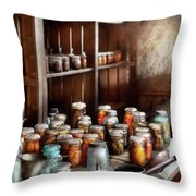 Food - The Winter Pantry  Throw Pillow by Mike Savad